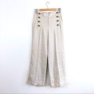 NWT Ann Taylor Linen Blend High Wide Leg Trousers
